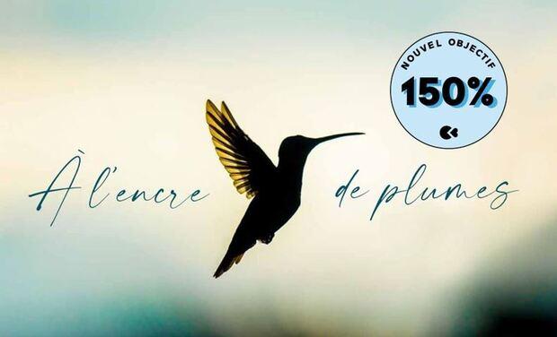 Project visual A l'encre de plumes, le premier livre de Romain Dufau & Lucien Saubesty
