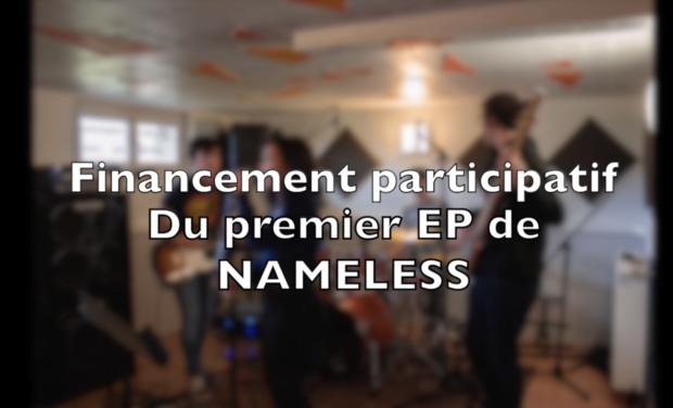 Project visual Financement du premier EP de Nameless