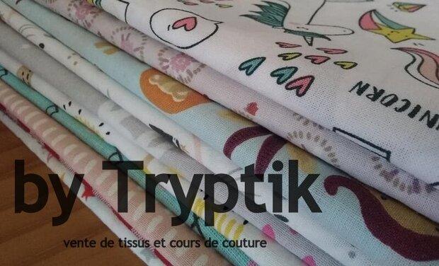 Project visual Vente de tissus et cours de couture