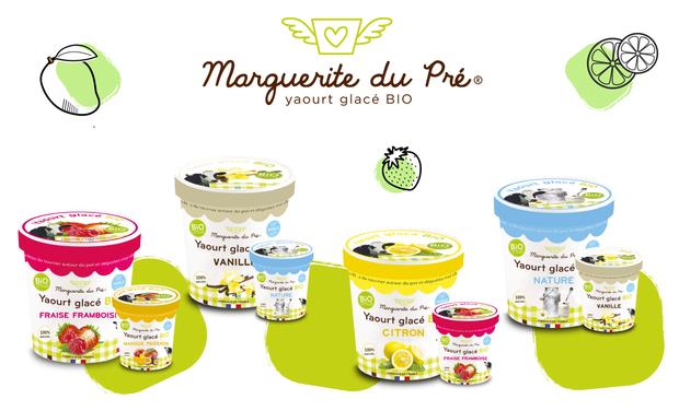 Project visual Marguerite du Pré, des yaourts glacés Bio et 100% naturels !
