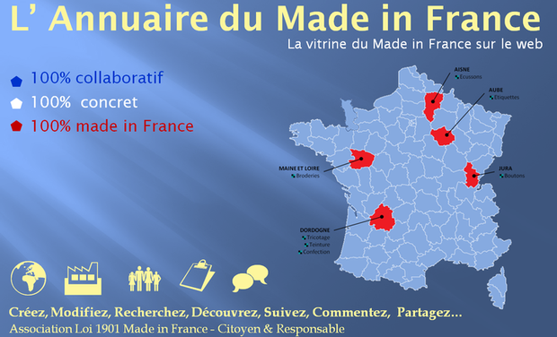 Project visual Annuaire 100% collaboratif du Made in France
