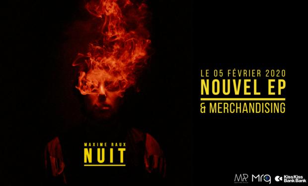 """Visuel du projet Maxime Raux - EP """"NUIT"""""""