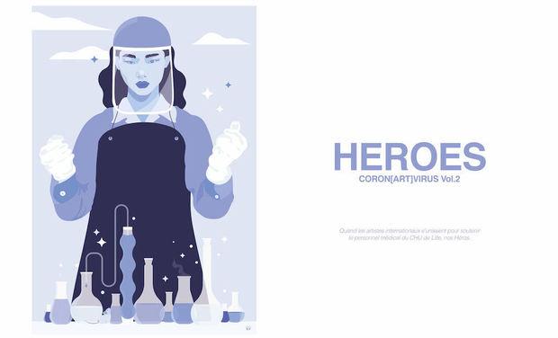 Visuel du projet Coron[ART]virus Vol.2 / HEROES