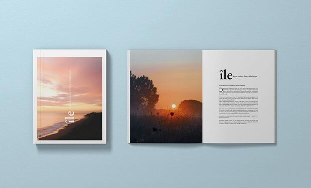 Project visual Île Magazine