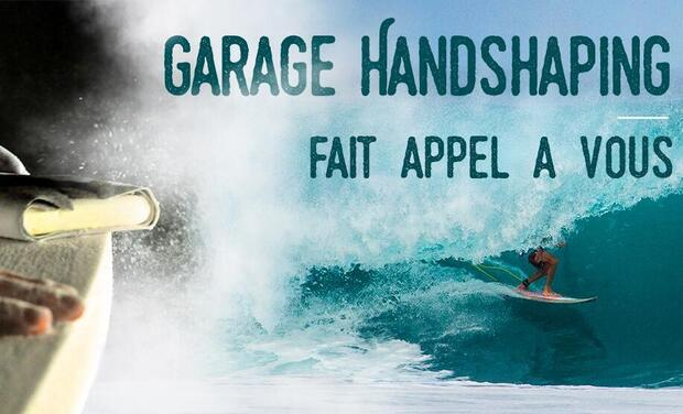 Project visual L'atelier Garage Handshaping : les planches de surf Made in Med'