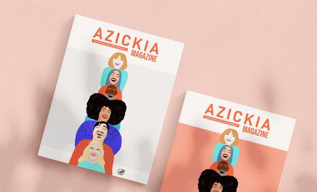 Project visual Azickia Magazine, notre premier magazine papier solidaire & 100% solutions