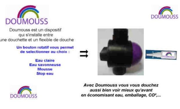 Project visual Douche écoresponsable