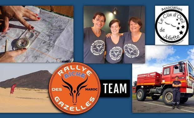 Project visual Équipage MiRAGe - Rallye Aïcha des Gazelles - Team Hors-normes