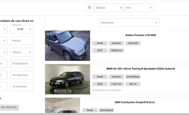 Visuel du projet Comparateur d'annonces de voitures en temps réel