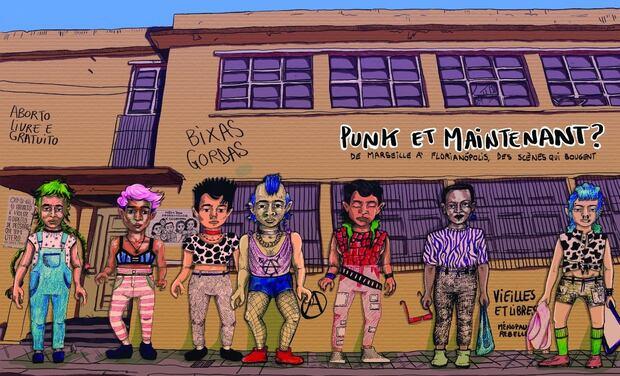 Project visual Une bd sur le punk pour financer l'Eden Café