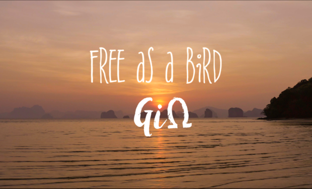 "Visuel du projet Le premier album ""Free as a bird"" de GiΩ"