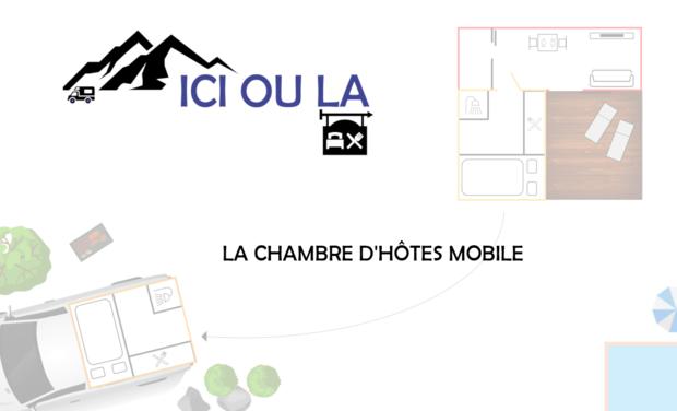Project visual ICI OU LA : chambre d'hôtes mobile