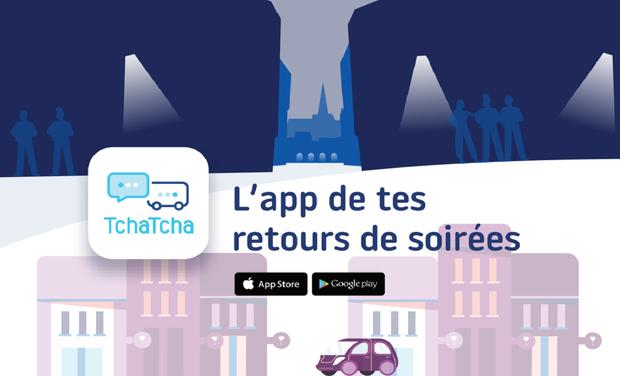 Project visual Tchatcha l'application gratuite de retours de soirées en toute sécurité