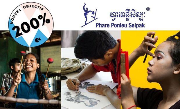 Visueel van project Aidez nous à sauver Phare Ponleu Selpak du COVID 19!