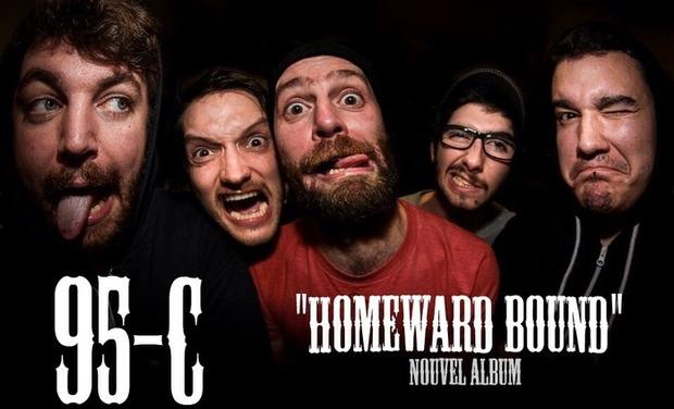 """Visuel du projet 95-C ( punk rock ) nouvel album """" Homeward bound"""""""