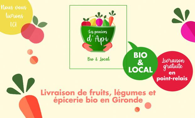 Visuel du projet Les paniers d'Api : Livraison de fruits et légumes bio et locaux en Gironde