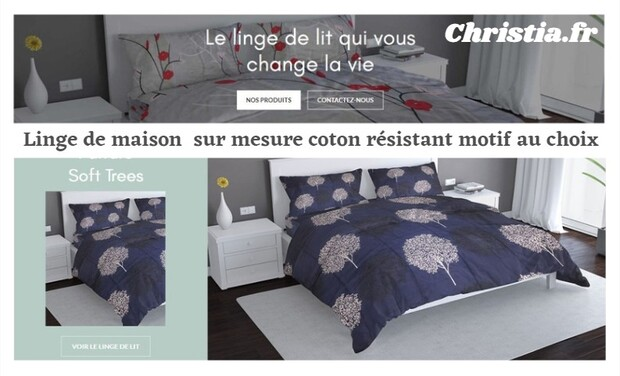 Visueel van project Christia linge de lit en coton durable