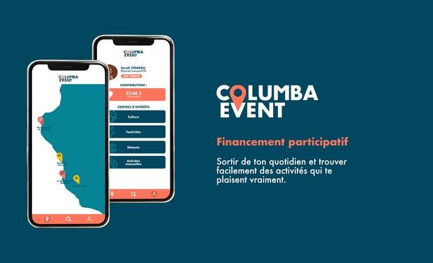 Project visual Changeons la façon de trouver des activités grâce à Columba Event
