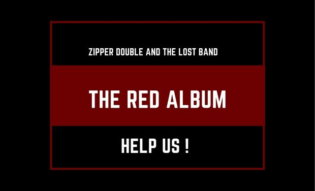 Visueel van project Zipper Double And the Lost Band-  The Red Album
