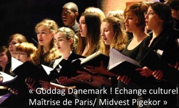 Project visual « Goddag Danemark ! Echange culturel Maîtrise de Paris/ Midvest Pigekor »