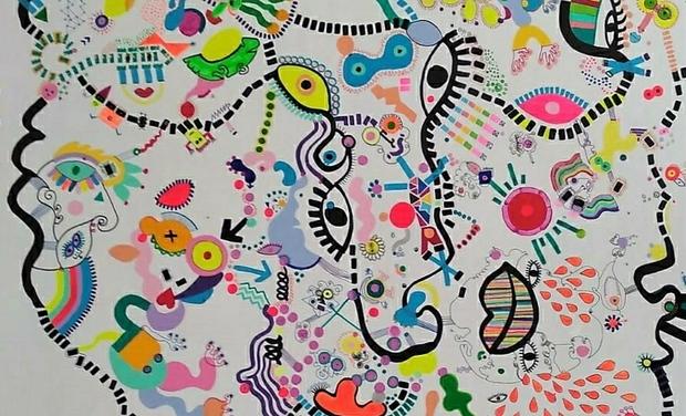 Project visual Lancement Artiste plasticienne 🎉 Sylvie Alves Pereira