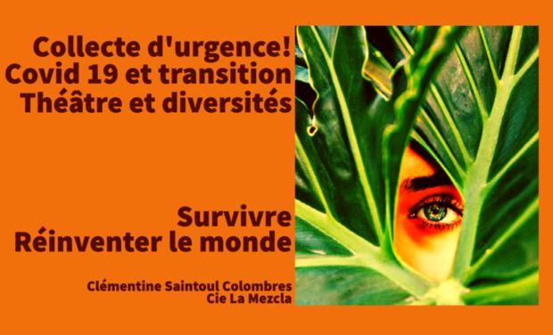 Project visual Collecte d'urgence solidaire pour compagnie théâtrale solidaire
