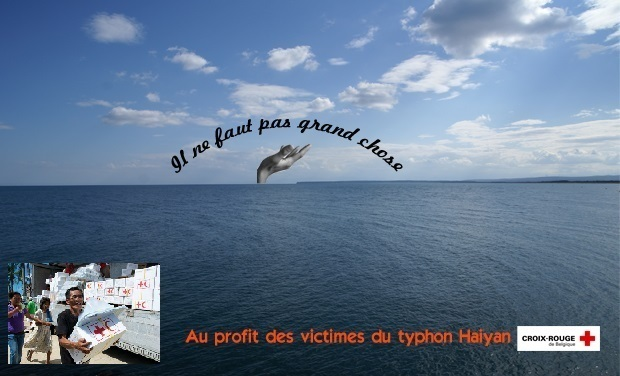 "Visueel van project ""Il ne faut pas grand chose"" :  Single au profit des victimes du typhon Haiyan"