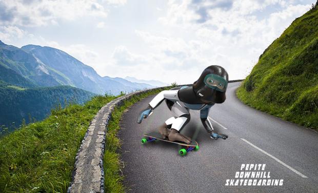 Visuel du projet Pépite downhill Skateboarding