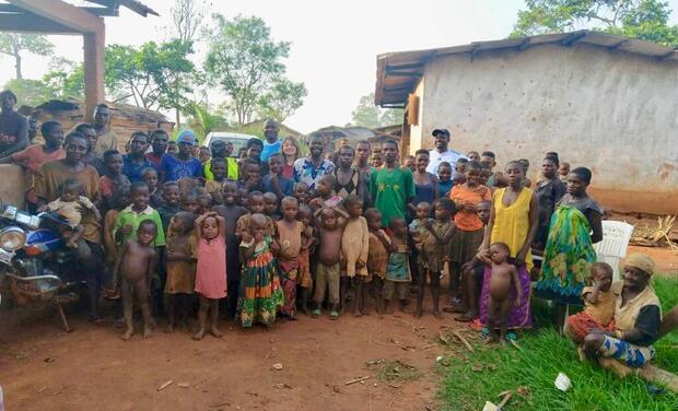 Visueel van project Construction d'une infrastructure sportive chez les Pygmées Baka