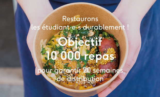 Visueel van project Restaurons les étudiant.e.s durablement !