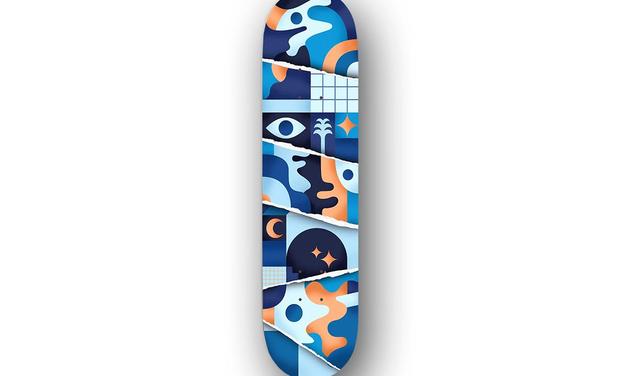 Visuel du projet Planche de skate Bajamar - Collaboration artistique Bart Lanzini x Tomalater