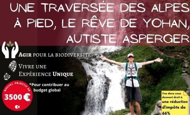 Visueel van project Une traversée des Alpes à pied pour dépasser son handicap