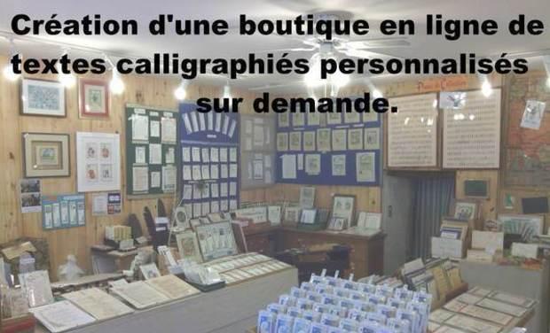 Visueel van project Création d'une boutique en ligne de textes calligraphiés personnalisés