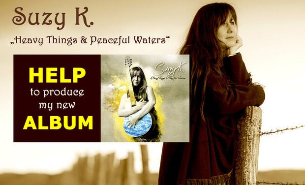 "Visuel du projet SUZY K. ~ new album ""Heavy Things & Peaceful Waters"" ~ autoproduction ~"