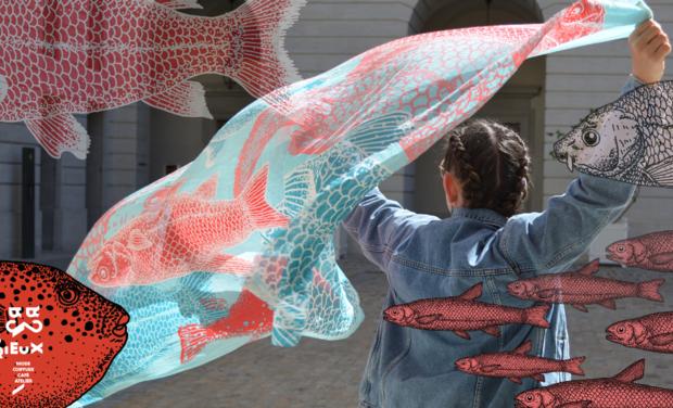 Project visual Un foulard ecoresponsable créé en collab'