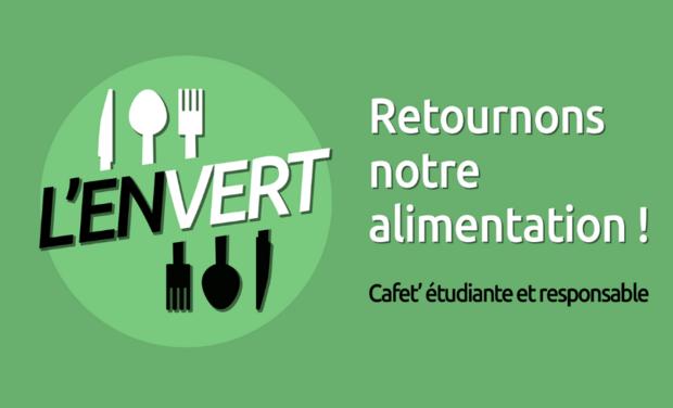 Visueel van project L'EnVert - Cafet' étudiante & éco-responsable // 2e objectif : 1 500 euros //