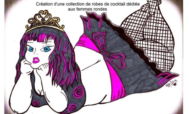 Visuel du projet Création d'une collection de robes de cocktail dédiée aux femmes rondes