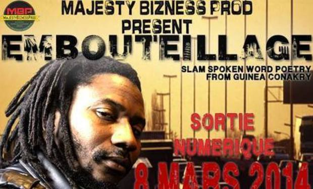 Project visual EMBOUTEILLAGE/slam spoken word poetry
