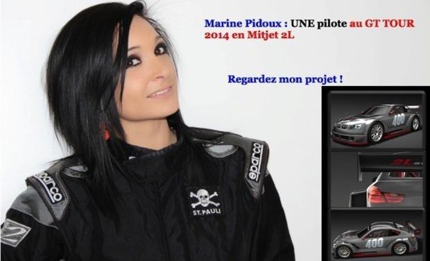 Visuel du projet Marine Pidoux , une jeune pilote au GT TOUR 2014 en Mitjet 2L