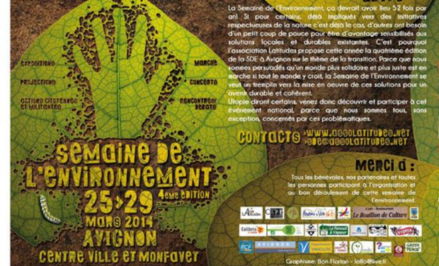 Visuel du projet Organisation de la Semaine de l'Environnement 2014 à Avignon