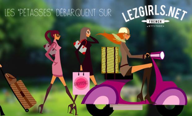 Project visual Lezgirls.net - French Attitude - Tee-Shirt Tendance pour femmes
