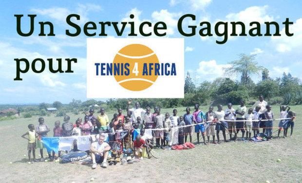Project visual Un Service Gagnant pour Tennis 4 Africa