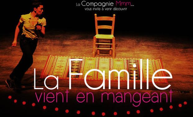 Project visual La Famille vient en mangeant au Festival d'Avignon 2014