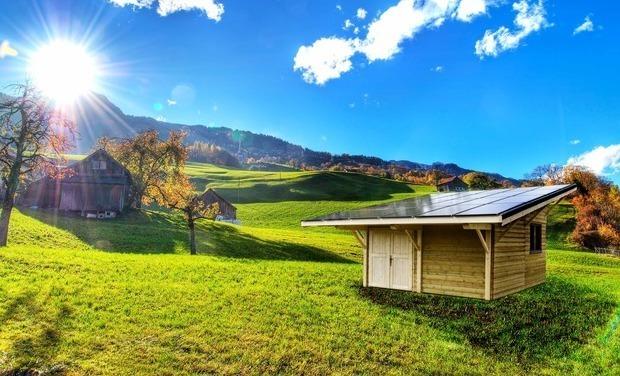 Visuel du projet Solaire Box - L'énergie Solaire deux fois moins chère - Votre abri/garage autofinancé