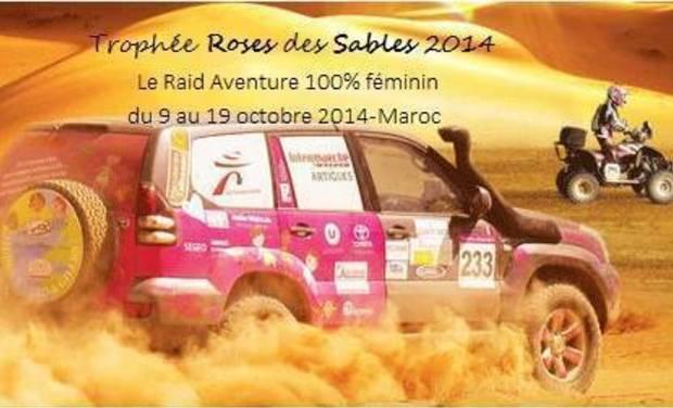 "Project visual rallye humanitaire ""trophée roses des sables"""