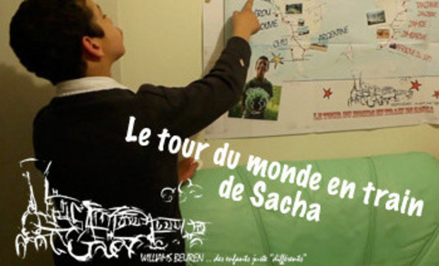 Project visual Le tour du monde en train de Sacha