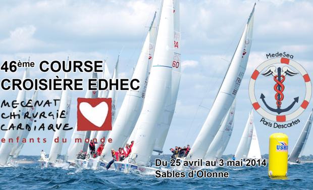 Visuel du projet Medesea - Course Croisière Edhec - Mécénat Chirurgie Cardiaque