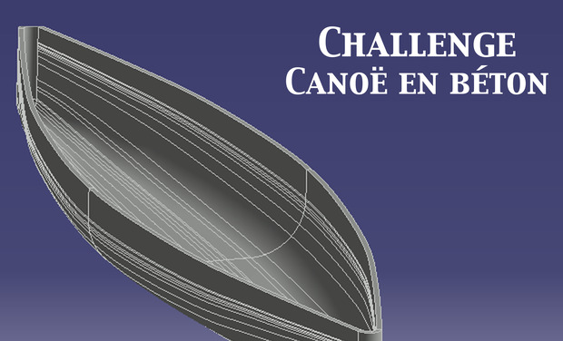 Project visual Canoë en béton