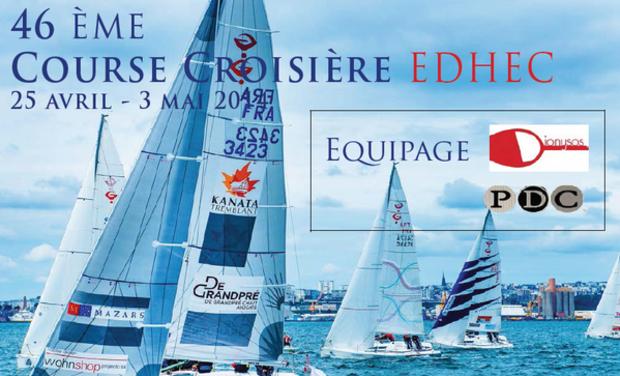 Project visual L'équipage Dionysos/PDC à la Course Croisière EDHEC 2014 !