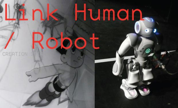 Visuel du projet Link Human/Robot - Livre et performance